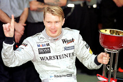 Mika Hakkinen, McLaren fête son titre de champion du monde