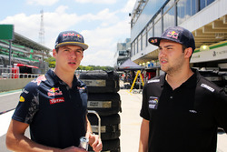 (L to R): Max Verstappen, Red Bull Racing with Felipe Fraga, Stock Car Driver