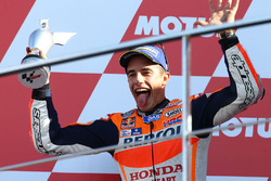 Podium: tweede Marc Marquez, Repsol Honda Team