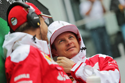 Fahrerparade: Kimi Räikkönen, Ferrari; Sebastian Vettel, Ferrari