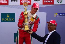 Race winner Mick Schumacher