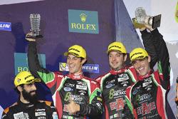 Подіум LMP2: друге місце - #43 RGR Sport by Morand Ligier JSP2 - Nissan: Рікардо Гонсалес, Філіпе Альбукерке, Бруно Сенна
