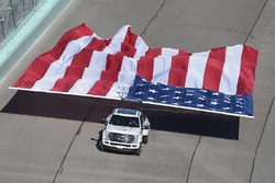 A giant United States flag
