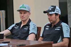 Nico Hulkenberg, Sahara Force India F1 y Sergio Pérez, Sahara Force India F1