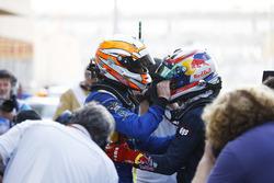 2016 GP2 Series champion Pierre Gasly, PREMA Racing and Race winner Alex Lynn, DAMS