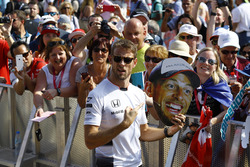 Jenson Button, McLaren with Fans