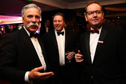 Il Presidente del Formula One Group Chase Carey e il CEO McLaren Zak Brown