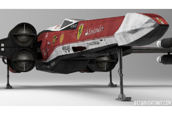 Star Wars X-Wing mit Ferrari-Design