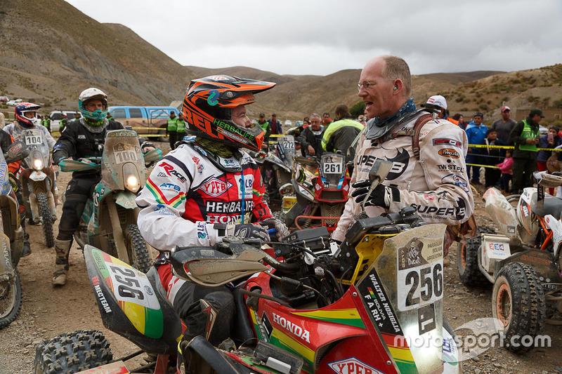 #267 Barren Racer: Kees Koolen, #256 Honda: Walter Nosiglia