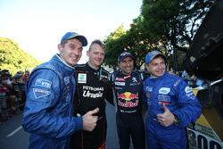 Gerard De Rooy, Team de Rooy; Stéphane Peterhansel; Peugeot Sport and Dmitry Sotnikov with Eduard Nikolaev