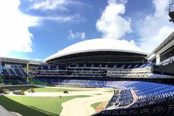 Aufbau der Strecke für das RoC 2017 im Marlins Park, dem Baseball-Stadion der Miami Marlins