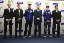 Valentino Rossi, Yamaha Factory Racing, Maverick Viñales, Yamaha Factory Racing, Kouichi Tsuji, Gerente de Motorsport desarrollo división, motores Yamaha, Lin Jarvis, Director General de Yamaha Factory Racing, Massimo Meregalli, Yamaha Factory Racing Team Director