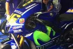 Valentino Rossi, Yamaha Factory Racing detalle de la moto