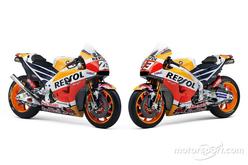 Bikes von Dani Pedrosa, Repsol Honda Team und Marc Marquez, Repsol Honda Team