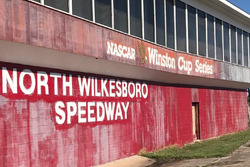 Closed North Wilkesboro Speedway signage