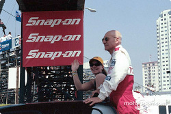 Celebrity race presentation: Sarah Fisher and Patrick Stewart