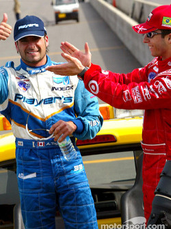 Victory lap for Alex Tagliani and Bruno Junqueira
