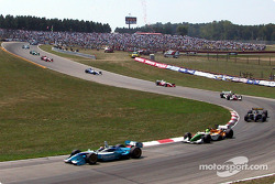 The start: Patrick Carpentier leading the field
