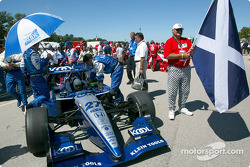 Dario Franchitti on the starting grid