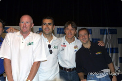 Press conference: former winners Paul Tracy, Dario Franchitti, Adrian Fernandez and Cristiano da Matta