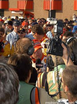 Interview for race winner Jimmy Vasser