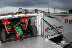 Fernandez Racing transporter