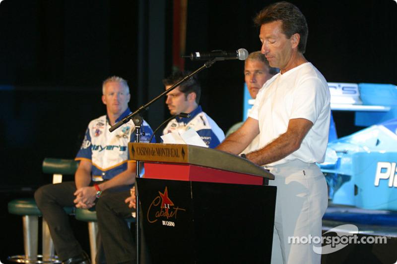 Team Player's press conference on Monday: Player's Racing mentor Richard Spénard