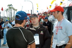 Alex Tagliani, Sean Astin and Max Papis