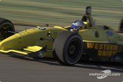 A.J. Allmendinger exits pit lane