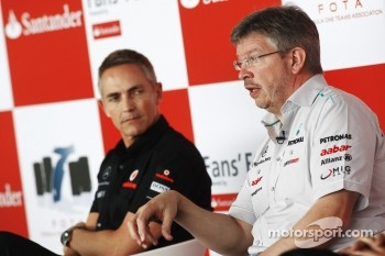 Martin Whitmarsh (McLaren) and Ross Brawn (Mercedes GP)