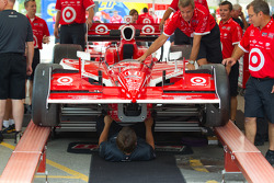 Car of Scott Dixon, Target Chip Ganassi Racing at technical inspection