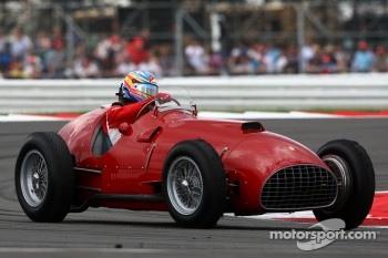 Fernando Alonso in the Ferrari 375 F1, now owned by Bernie Ecclestone