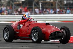 Fernando Alonso, Scuderia Ferrari drives the 1951 Silverstone winning Ferrari 375