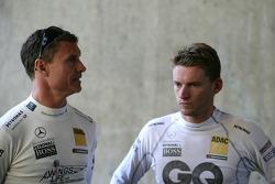 David Coulthard, Mücke Motorsport, AMG Mercedes C-Klasse and Maro Engel, Mücke Motorsport, AMG Mercedes C-Klasse