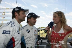 Andy Priaulx BMW Works Driver, Augusto Farfus BMW Works Driver and Christina Surer