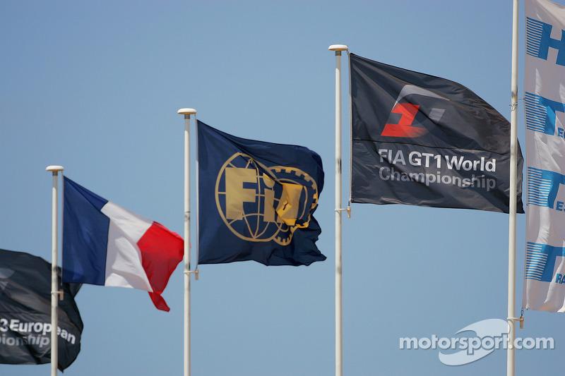 Flags at Paul Ricard