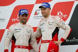 Podium: second place Stefan Mücke and Darren Turner