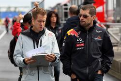 Sebastian Vettel, Red Bull Racing walks the circuit