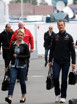 Corina Schumacher, Corinna, Wife of Michael Schumacher, Michael Schumacher, Mercedes GP F1 Team