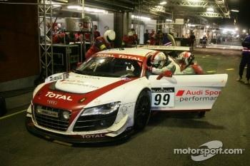 Pit stop for Audi Sport Team Phoenix Audi R8 LMS: Marc Basseng, Christopher Haase, Frank Stippler