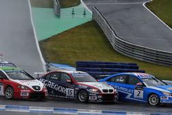 Gabriele Tarquini, Seat Leon 2.0 TDI, Lukoil - Sunred, Tom Coronel, BMW 320 TC, ROAL Motorsport y Robert Huff, Chevrolet Cruze 1.6T, Chevrolet