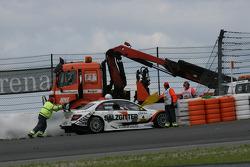 Ralf Schumacher, Team HWA AMG Mercedes C-Klasse, out in 1st Lap
