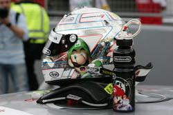 New Helmet of Timo Scheider, Audi Sport Team Abt Audi A4 DTM
