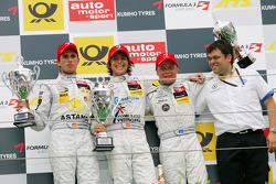 Podium: race winner Roberto Merhi, Prema Powerteam Dallara F308 Mercedes