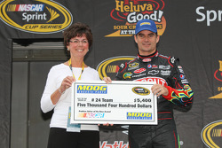 Jeff Gordon, (accepting for Alan Gustafson) Moog Chassis Parts Problem Solver of the Race Award