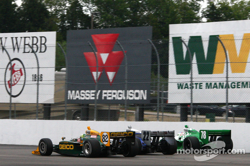 Tony Kanaan, KV Racing Technology-Lotus, Tomas Scheckter, Dreyer & Reinbold Racing, Simona de Silvestro, HVM Racing
