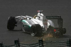 Michael Schumacher, Mercedes GP F1 Team crashes