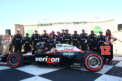 Victory lane: race winner Will Power, Team Penske