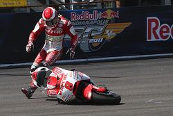 Hector Barbera, Mapfre Aspar Team MotoGP choque