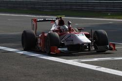 Luca Filippi crosses the line to take victory